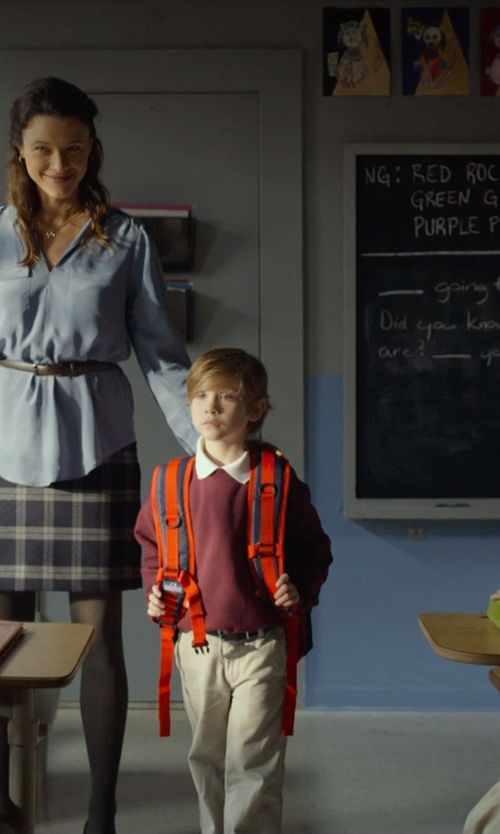 Jacob Tremblay with Brooks Brothers Plain-Front Non-Iron Chino Pants in Before I Wake