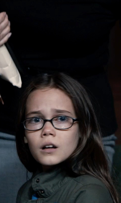 Oona Laurence with Vince Field Jacket in Southpaw