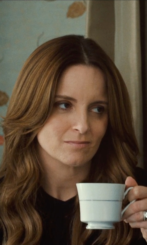 Tina Fey with The Cellar Whiteware Tapered Mug in This Is Where I Leave You