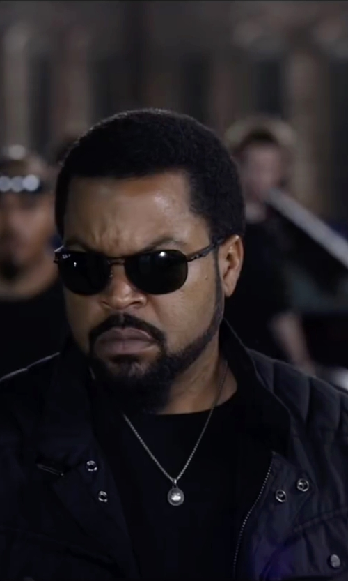 Ice Cube with Armani Collezioni Crew Neck T-Shirt in Ride Along 2