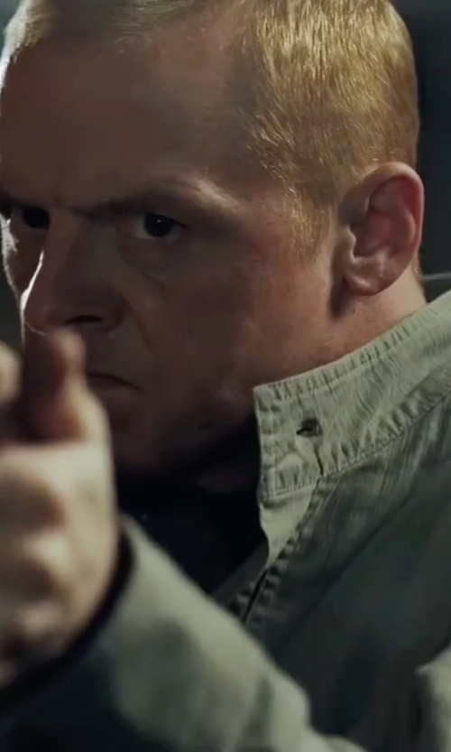 Simon Pegg with Jean Shop Denim Shirt in Mission: Impossible - Ghost Protocol