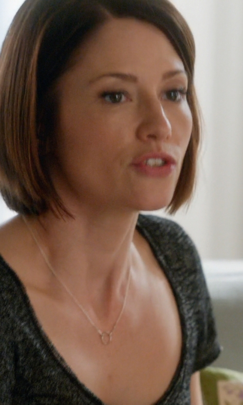 Chyler Leigh with Rag & Bone Ribbed Scoop-Neck Tee Shirt in Supergirl