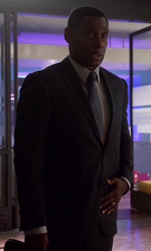 David Harewood with Ted Baker Slim Fit Two Piece Suit in Supergirl