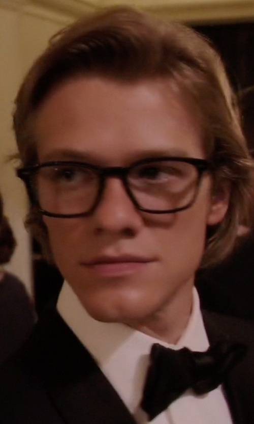 Lucas Till with Original Penguin Eye The Seaver Eyeglasses in MacGyver