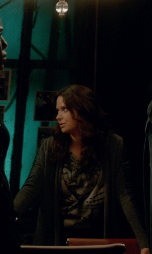Katie Lowes with All Saints Roar Pina Shirt in Scandal