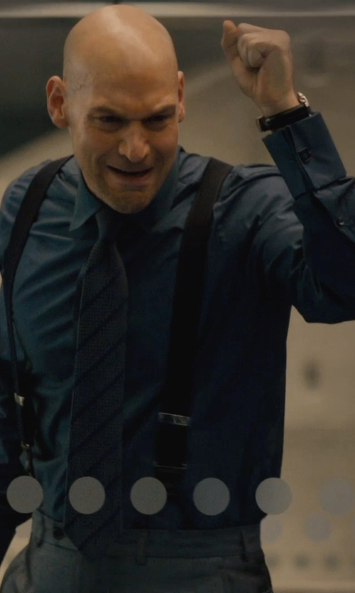 Corey Stoll with Ascot Button-Down Oxford Shirt in Ant-Man