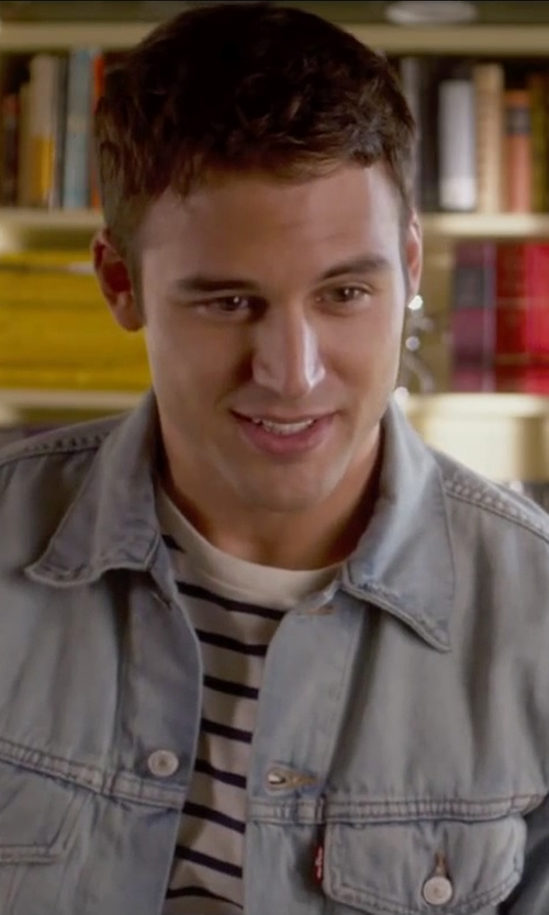Ryan Guzman with Levi's Men's Relaxed Trucker Jacket in The Boy Next Door