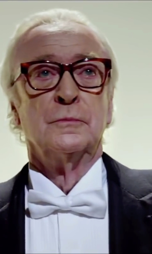 Michael Caine with Armani Collezioni iorgio Peak Lapel Tuxedo Suit in Youth