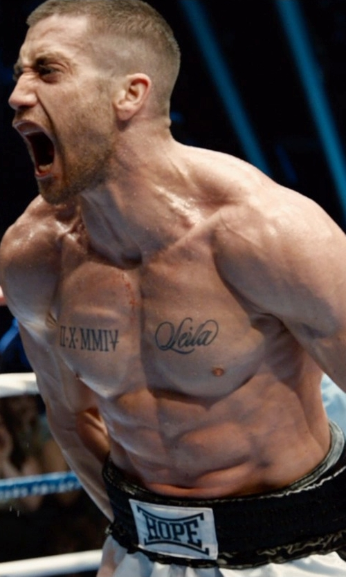 Jake Gyllenhaal with Everlast Standard Boxing Trunks in Southpaw