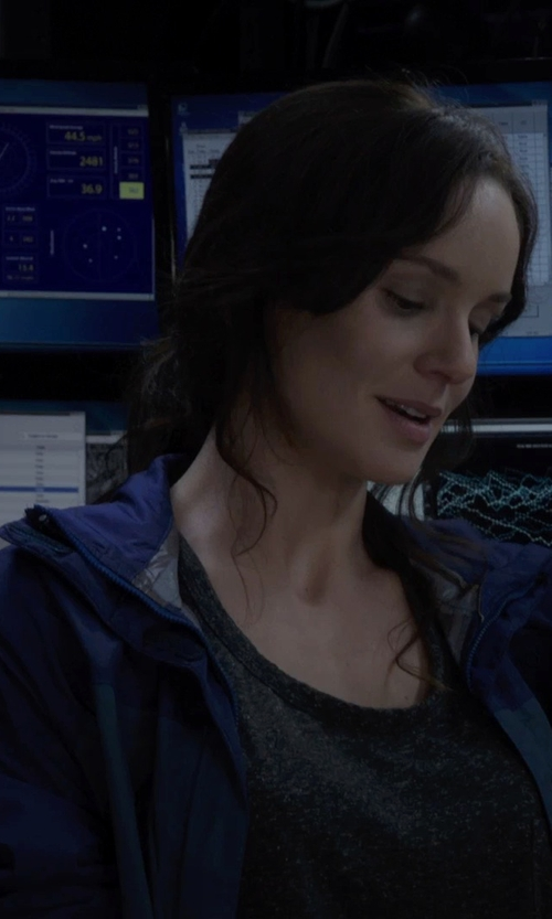 Sarah Wayne Callies with The North Face Venture Jacket in Into the Storm