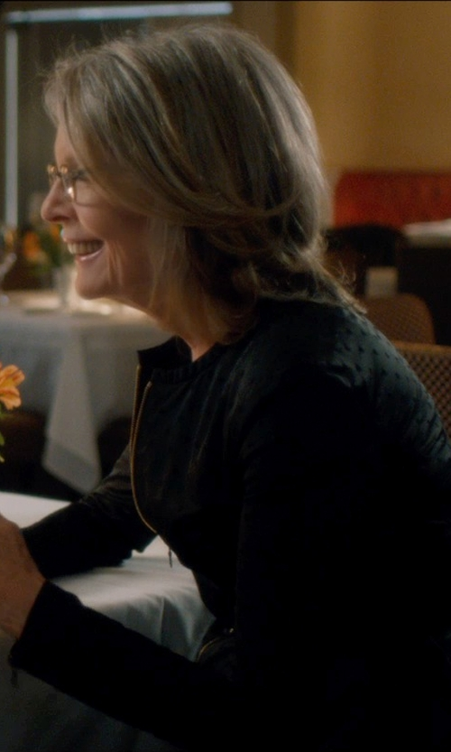 Diane Keaton with Anne Klein Zip Front Unlined Shirt in And So It Goes