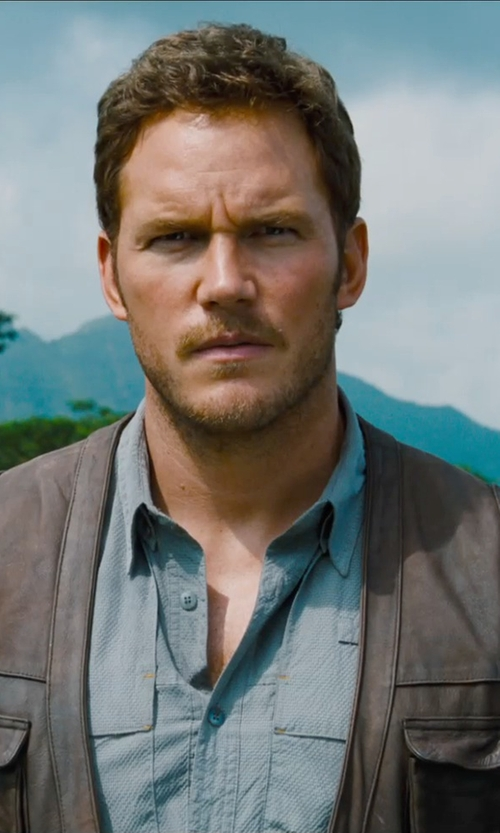 Chris Pratt with Jonathan A. Logan CP JW Vest in Jurassic World