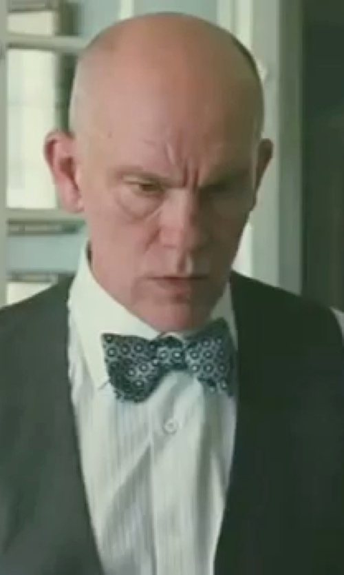 John Malkovich with French Connection Doilon Dot Bowtie in Burn After Reading