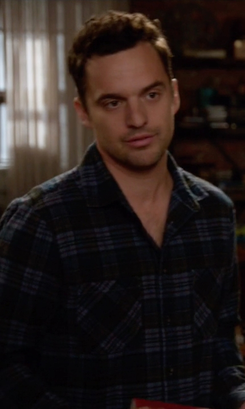 Jake Johnson with Bespoken 'Sanford' Slim Fit Sport Shirt in New Girl