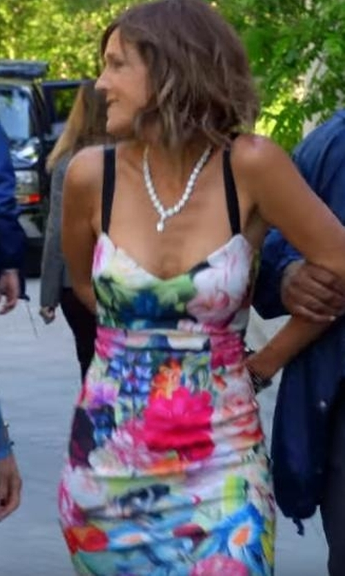 Unknown Actor with Ted Baker London Doona Floral Swirl Strappy Dress in The Mick