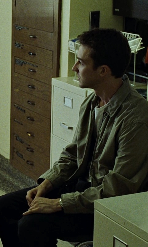 Edward Norton with Denim & Supply Ralph Lauren Casual Pants in Fight Club