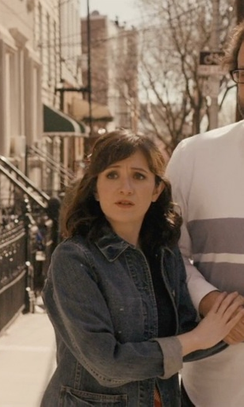 Noël Wells with Native Rose Tassel Back Denim Jacket in Master of None