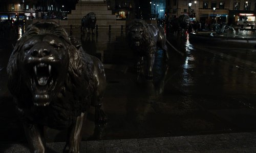 Unknown Actor with Trafalgar Square London, United Kingdom in Night at the Museum: Secret of the Tomb