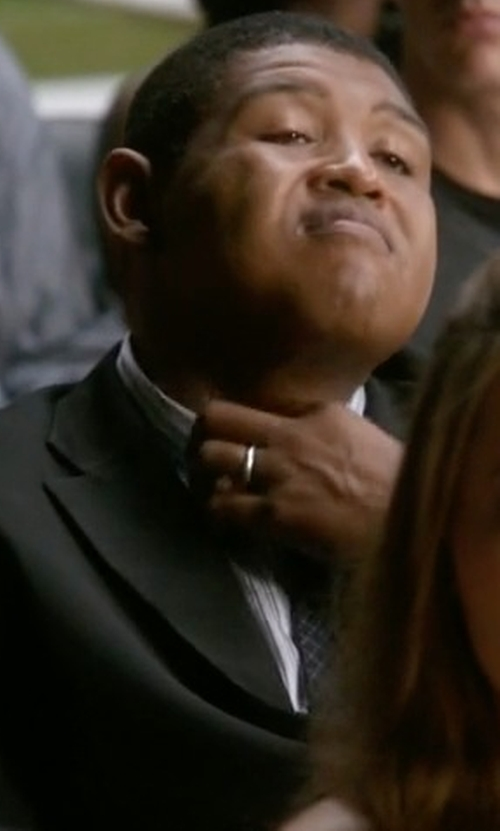 Omar Benson Miller with The Men's Jewelry Store Light Comfort-Fit Band Ring in Ballers