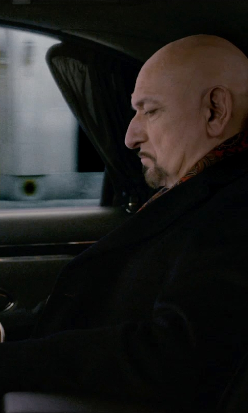 Ben Kingsley with Carven Single Breasted Coat in Self/Less