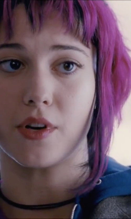 Mary Elizabeth Winstead with Z by Zella Vibrant Zip Hoodie Jacket in Scott Pilgrim Vs. The World