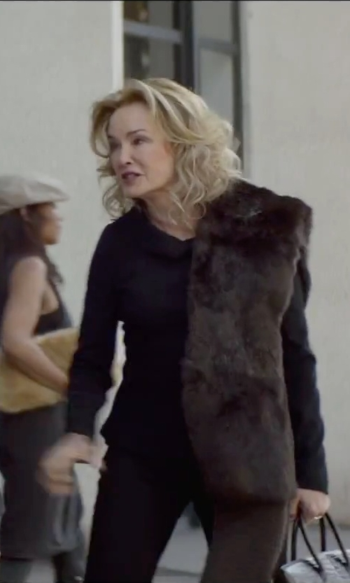 Jessica Lange with MCROC Hornback Genuine Crocodile Skin Leather Handbag in The Gambler