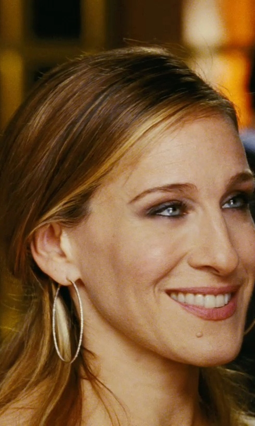 Sarah Jessica Parker with Lana Large Glam Hoop Earrings in Sex and the City