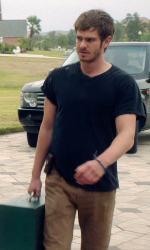 Andrew Garfield with Nordstrom Washed Straight Leg Chinos in 99 Homes