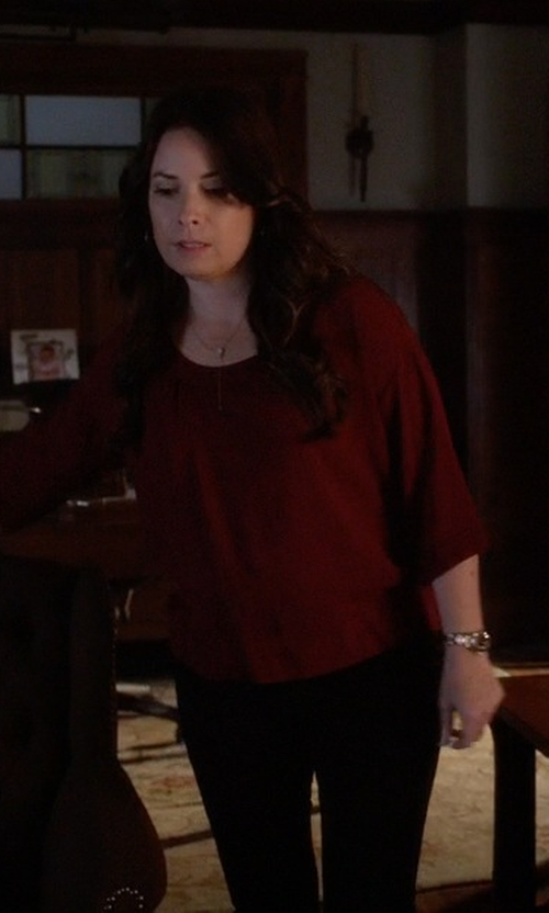 Holly Marie Combs with Msgm Slim Fit Trousers in Pretty Little Liars