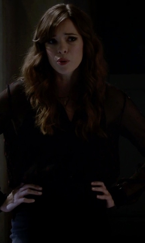 Danielle Panabaker with Charlie Jade Button Down Blouse in The Flash