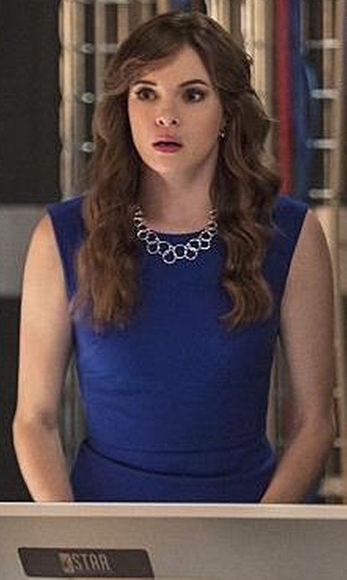 Danielle Panabaker with Tahari Sheath Dress in The Flash
