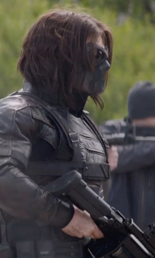 Sebastian Stan with Apparel Force Rothco Ventec Tactical Goggle in Captain America: The Winter Soldier
