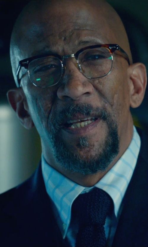 Reg E. Cathey with Old Focals Advocate Tortoiseshell Gold Eyeglass in Fantastic Four