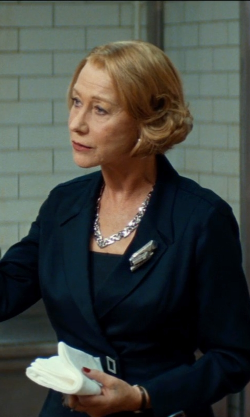 Helen Mirren with Mauboussin Diamond White Gold Leaf Brooch in The Hundred-Foot Journey