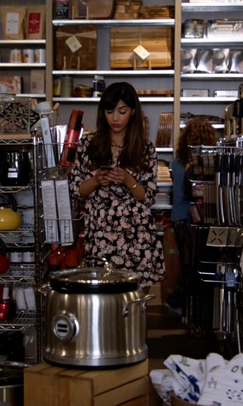 Hannah Simone with Asos Only Floral Midi Shirt Dress in New Girl