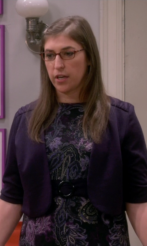 Mayim Bialik with Boden Favourite Cropped Cardigan in The Big Bang Theory