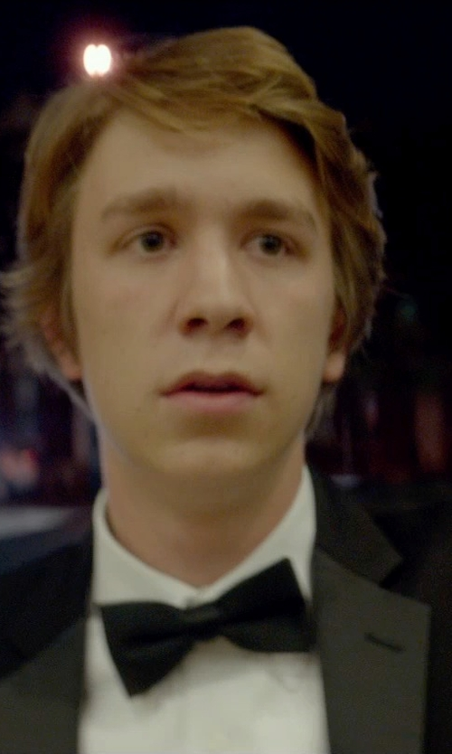 Thomas Mann with Barneys New York Satin Bow Tie in Me and Earl and the Dying Girl