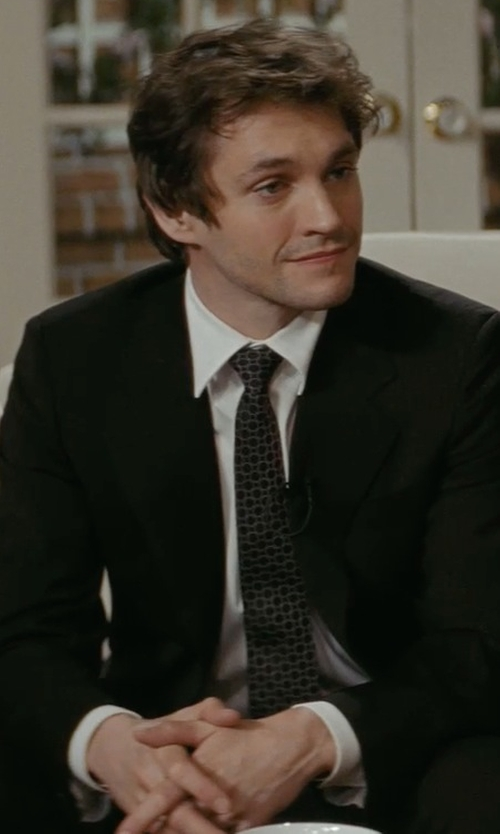 Hugh Dancy with Stefano Ricci Basic Solid Barrel-Cuff Dress Shirt in Confessions of a Shopaholic
