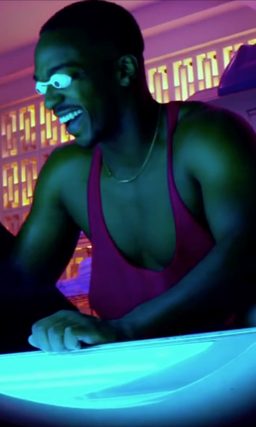 Anthony Mackie with Physique Bodyware Original Men's Y-Back Stringer Tank Top in Pain & Gain
