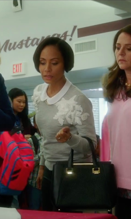 Jada Pinkett Smith with Jimmy Choo Large Alfie Leather Satchel Bag in Bad Moms