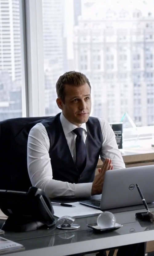 Gabriel Macht with Charvet Solid Poplin French-Cuff Shirt in Suits