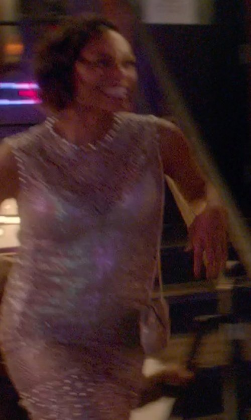 Rosario Dawson with Stefanel Sequin Short Dress in Top Five
