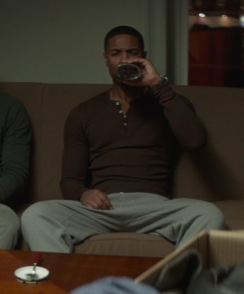 Michael B. Jordan with Alternative Lightweight French Terry Larchmont Sweatpants in That Awkward Moment