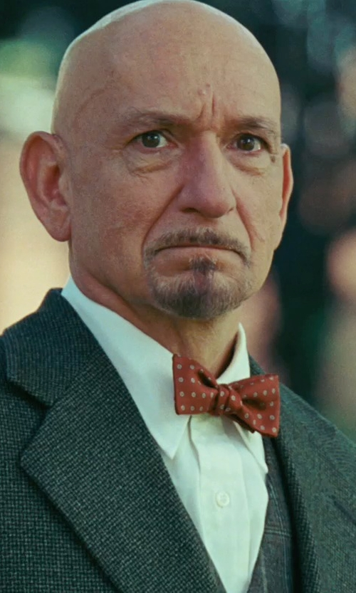 Ben Kingsley with John W. Nordstrom Signature Trim Fit Cotton Dress Shirt in Shutter Island