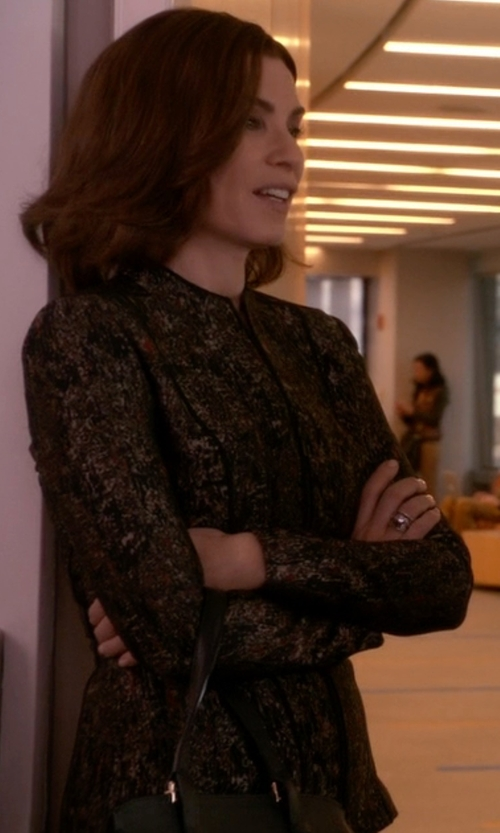 Julianna Margulies with Michael Michael Kors Tweed Blazer in The Good Wife