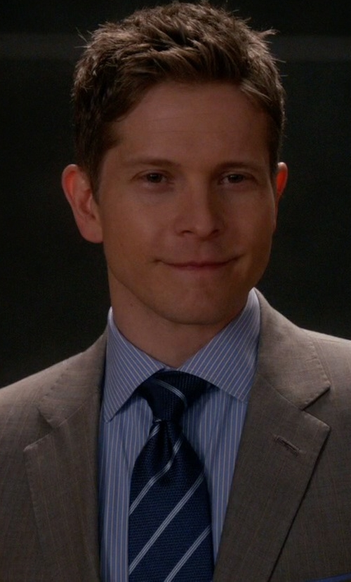 Matt Czuchry with Eton Stripe Silk & Wool Tie in The Good Wife