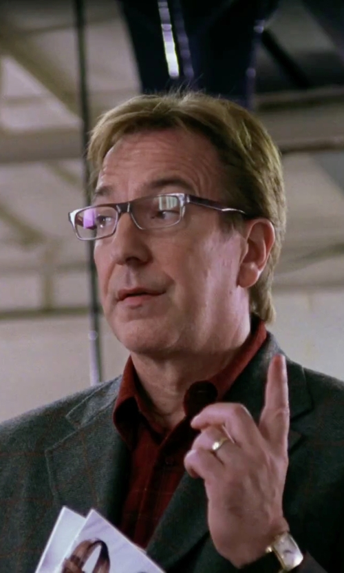 Alan Rickman with Spy Optic Finn Eyeglasses in Love Actually