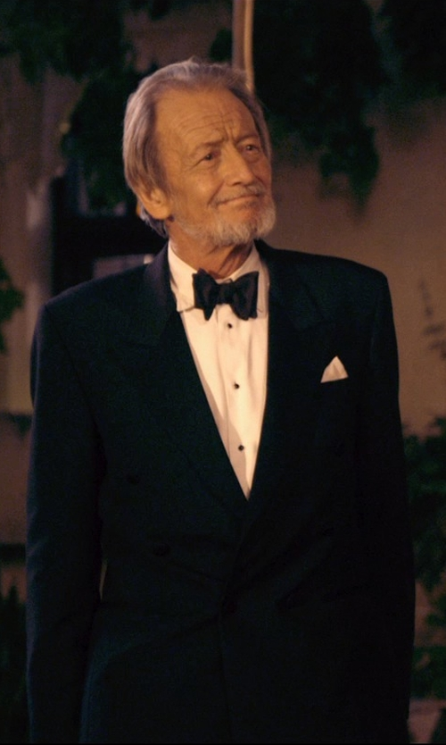 Ronald Pickup with Brooks Brothers Swiss Pleat French Cuff Tuxedo Shirt in The Second Best Exotic Marigold Hotel