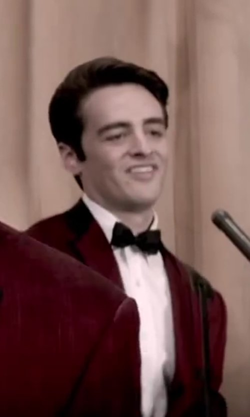 Vincent Piazza with Versace Collection Tuxedo Shirt, White in Jersey Boys