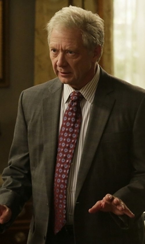 Jeff Perry with Canali Medallion Silk Tie in Scandal